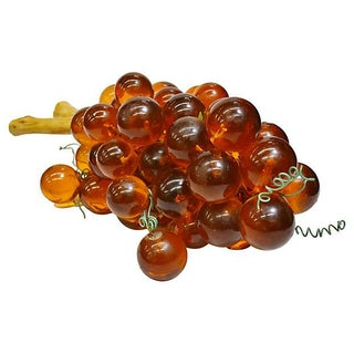 Large Amber Colored Lucite Grapes