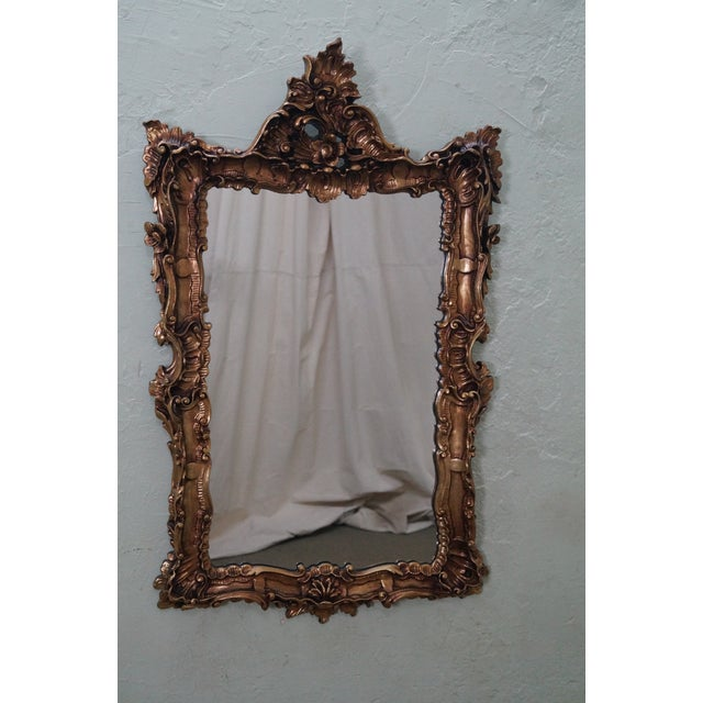 Vintage Gilt Carved Rococo Hanging Wall Mirror - Image 2 of 10
