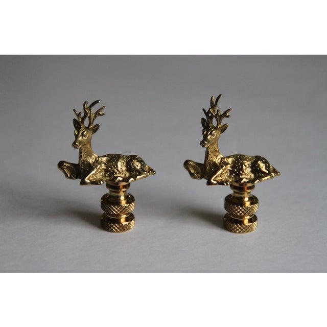 Image of Brass Deer Finials- A Pair