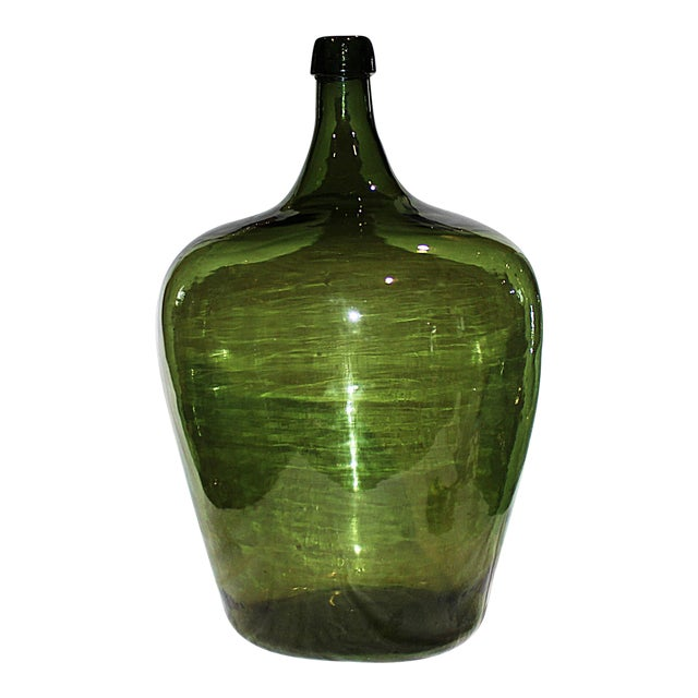 Demijohn Antique Blown Glass Bottle - Image 1 of 5