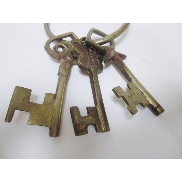Oversize Hollywood Glam Large Brass Skeleton KeyS Ring Set - Image 3 of 9