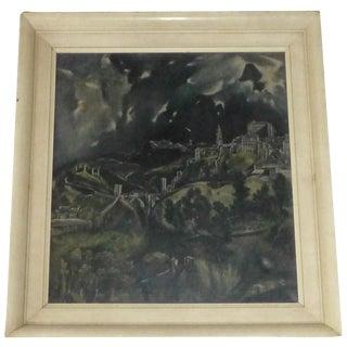 Vintage Holland Castle Print on Canvas
