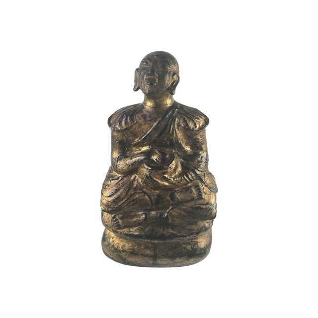 Image of 1930s Gilded Sitting Medicine Buddha Sculpture