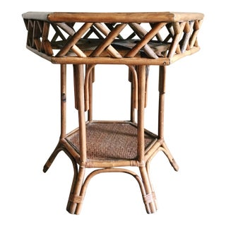 Rattan & Cane Side Table