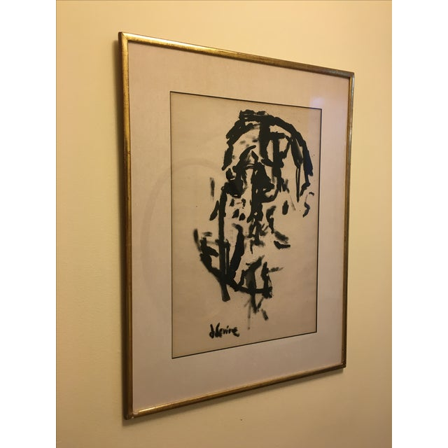 Jack Levine Cubist Ink Painting - Image 3 of 5