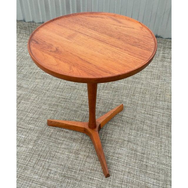 Danish Modern Hans Andersen Tripod Side Table - Image 2 of 6