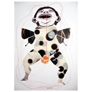 "Alejandra Mendoza ""Porcelana"" Mixed Media on Paper"