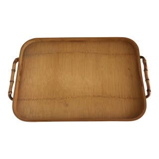Vintage Bamboo Serving Tray