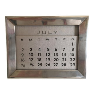 Tiffany Antique Sterling Silver Perpetual Calendar
