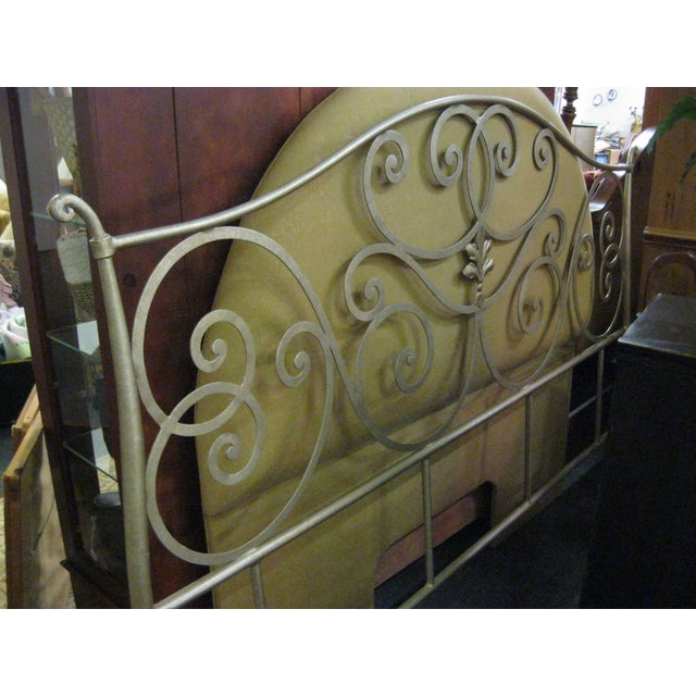 Metal Scroll Design King Size Bed - Image 4 of 5