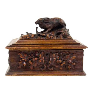 Black Forest Rabbit Hare Jewelry Box