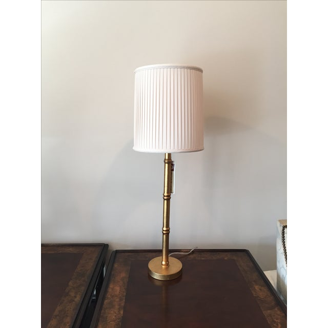Port 68 Gold Faux Bamboo Table Lamps - A Pair - Image 2 of 6