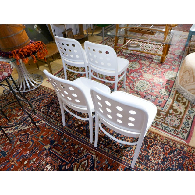 Bentwood & Ply Seat Dining Chairs - Set of 4 - Image 4 of 6
