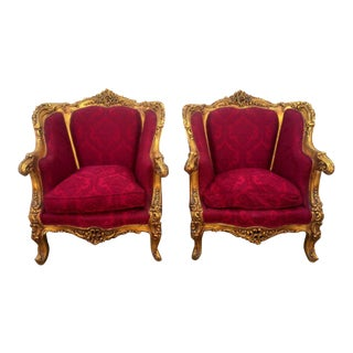 Vintage French Louis XV Style Chairs- A Pair