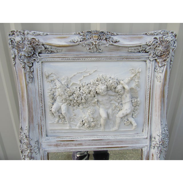 French Style Putti Trumeau Mirror - Image 6 of 9