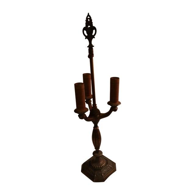 Vintage Art Deco Rembrandt Brass Candelabra Lamp - Image 1 of 6