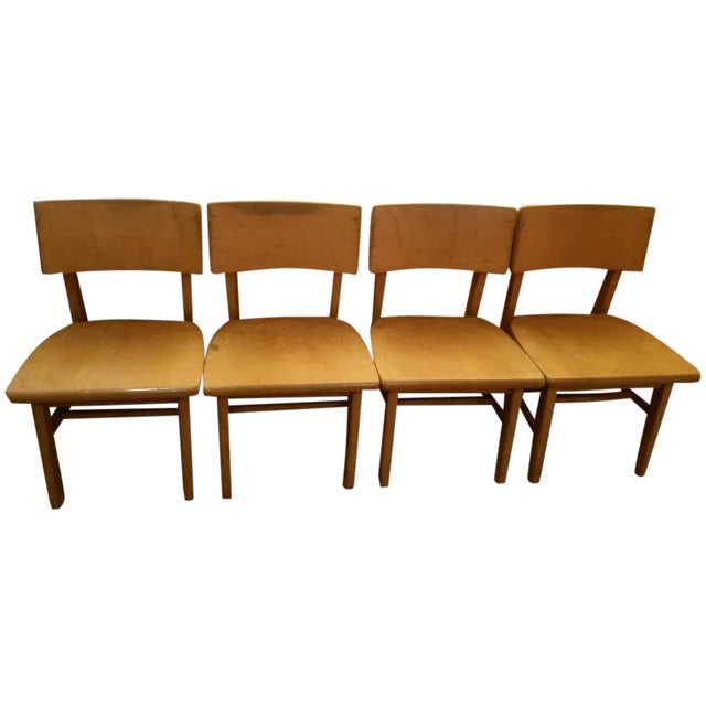 Myrtle Desk Maple Dining Room Chairs - Set Of 4