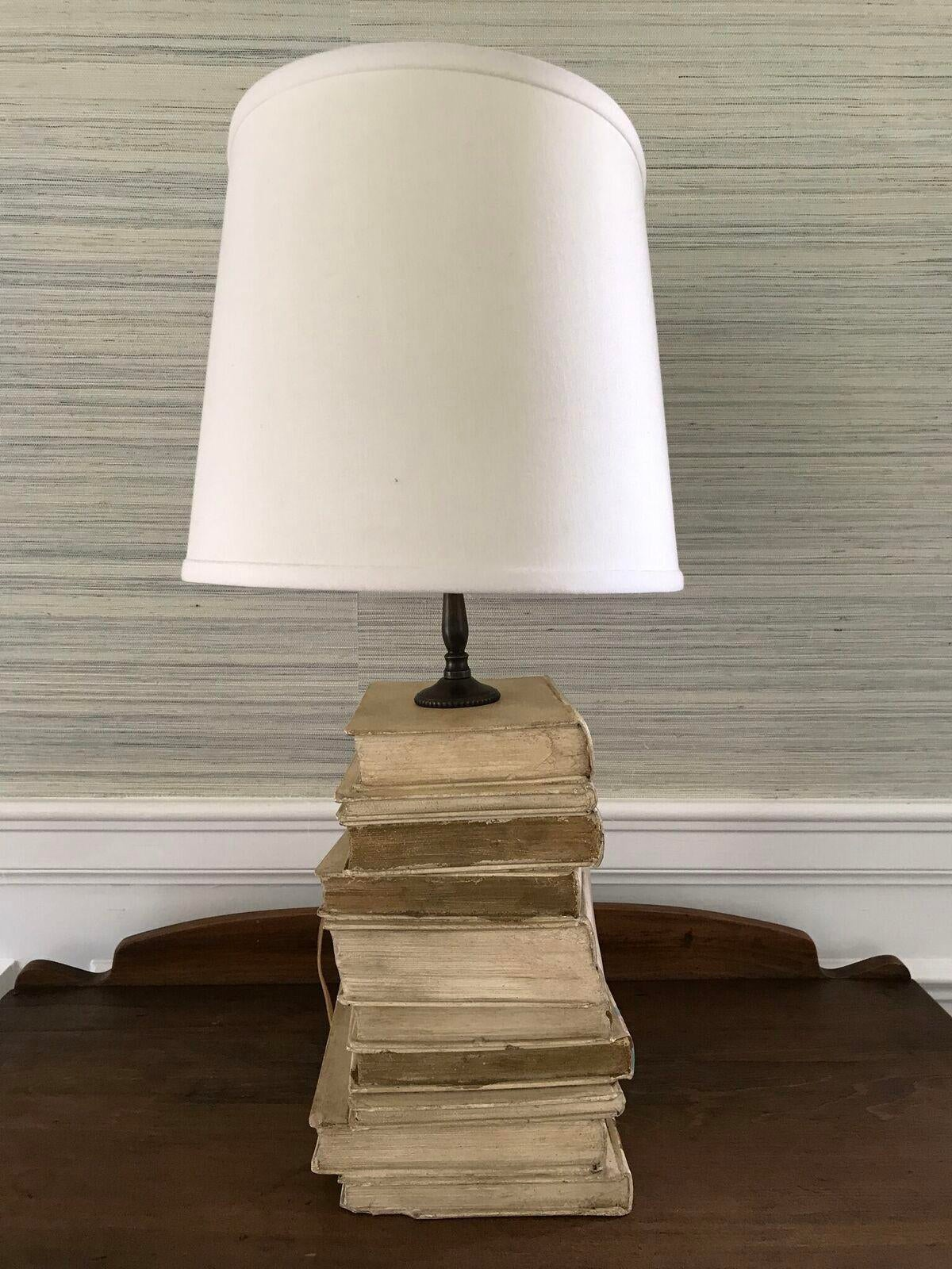 Vintage Stacked Book Table Lamp   Image 2 Of 6