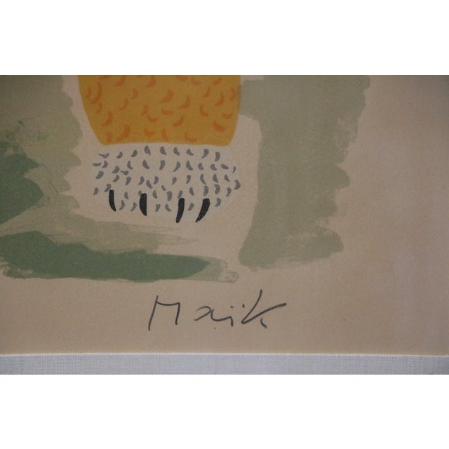 Lion & Butterfly Lithograph by Henri Maik - Image 3 of 7