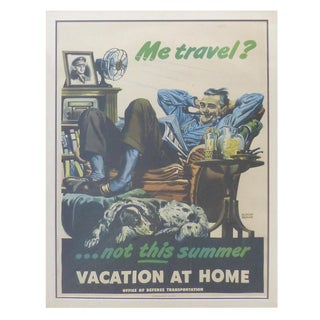 1945 A. Dorne US Dept. Transportation Poster