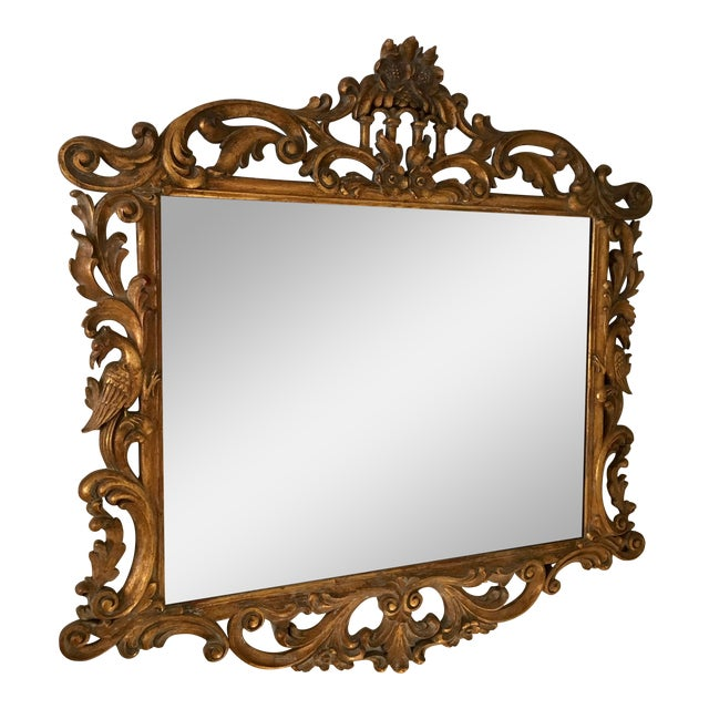 Gilt Finish Carved Italian Mirror - Image 1 of 11