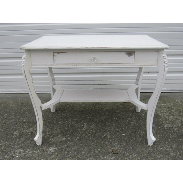 Vintage French Shabby Chic Style Desk - Image 6 of 7