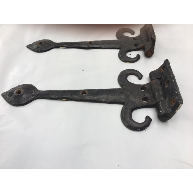 English Cottage Hand Forged Door Hinges - A Pair - Image 8 of 9