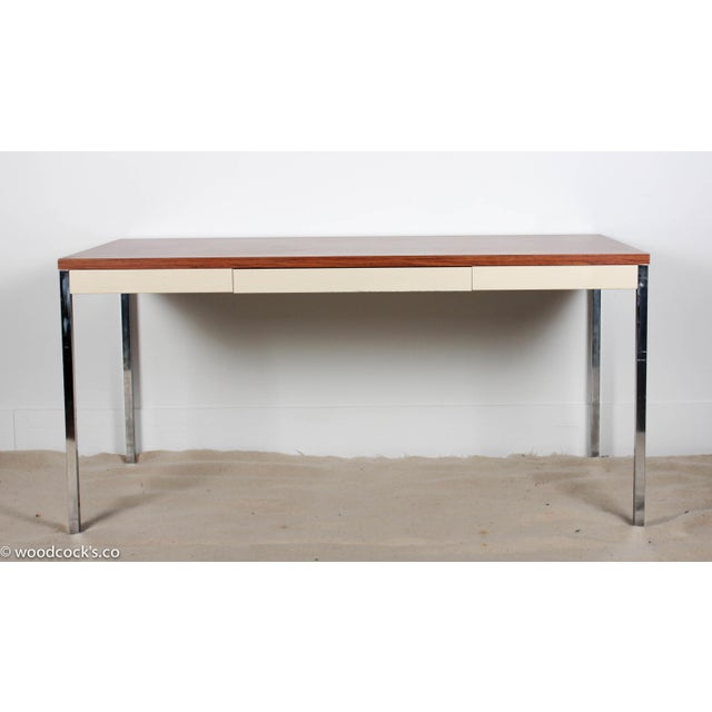 Steelcase Modern Minimalist Writing Desk - Image 2 of 9