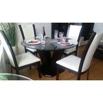Image of Espresso Glass Dining Table