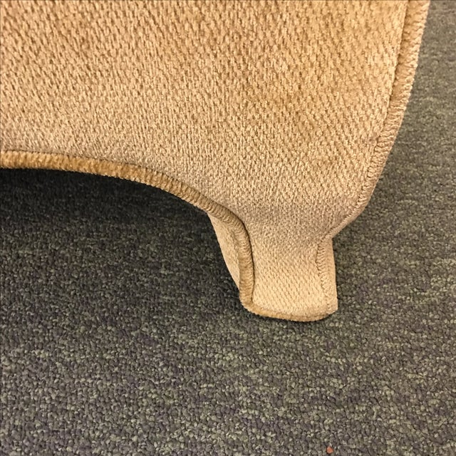Two Upholstered Roll Arm Chairs & Ottoman - Image 6 of 8
