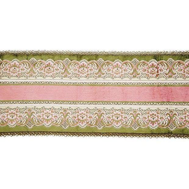 Image of 1930s French Textile Velvet Table Runner