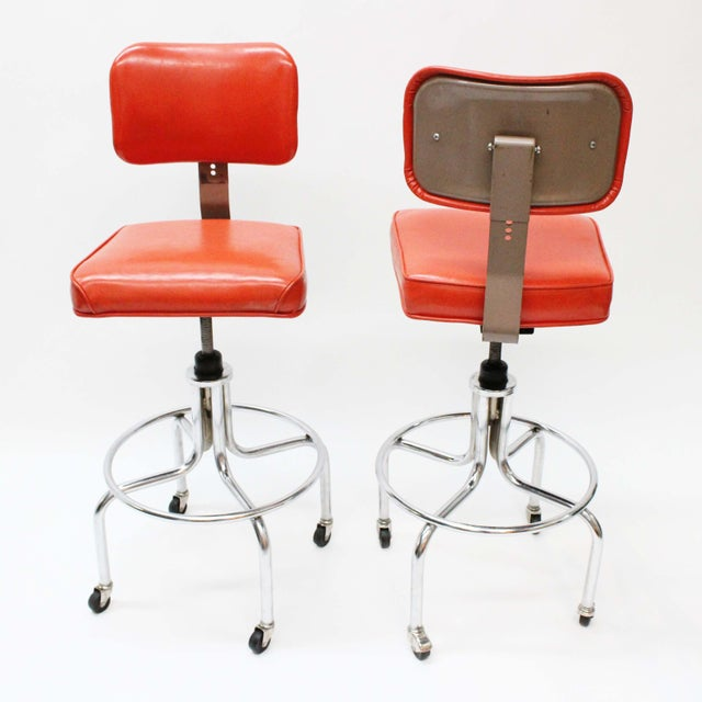Image of Vintage McDowell-Craig Drafting Stools - A Pair