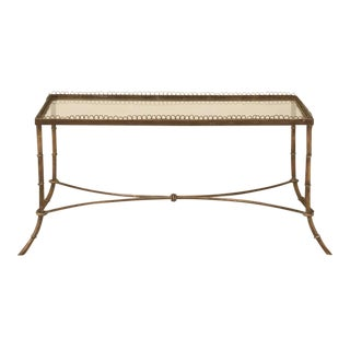 Vintage French Brass and Glass Coffee Table