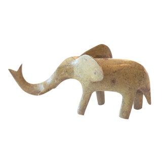 Vintage African Bronze Casting of Elephant