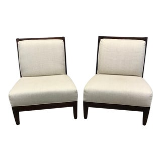 Room & Board Craftsman Style Armless Chairs - A Pair