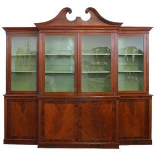 19th Century Antique American Mahogany Breakfront Bookcase