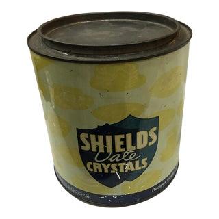 Vintage Shield Date Crystal Food Tin