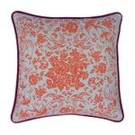 """Image of Swallow Garden 19"""" Pink & Orange Pillow"""