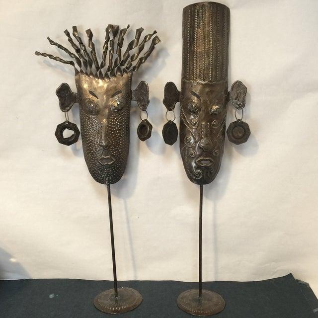 Oil Drum Masks - a Pair - Image 2 of 11