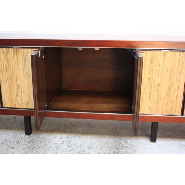 1970s Walnut, Bamboo and Cherry Credenza after Harvey Probber - Image 5 of 10