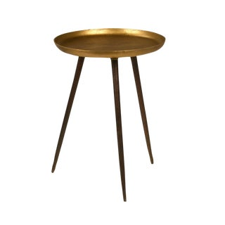 Brass Three-Leg Side Table