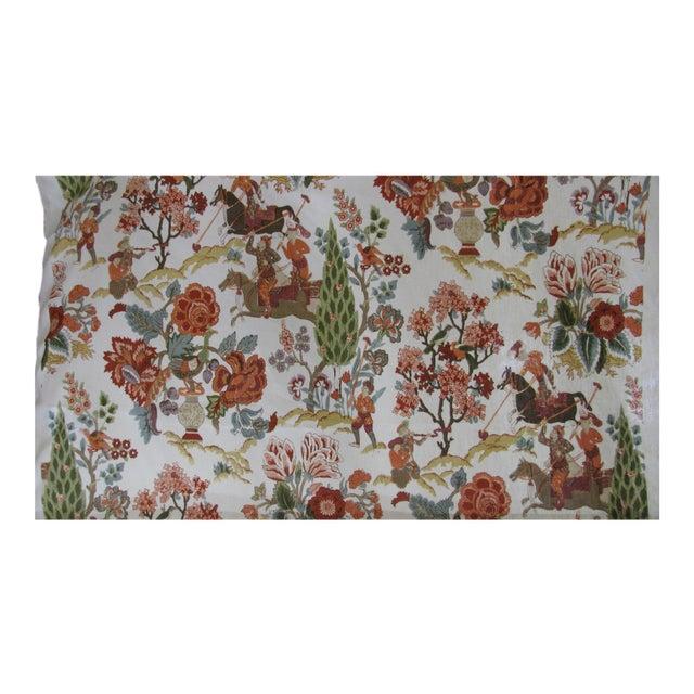 """Persian Lancers"" Schumacher Linen Fabric - 1 Yard - Image 1 of 4"