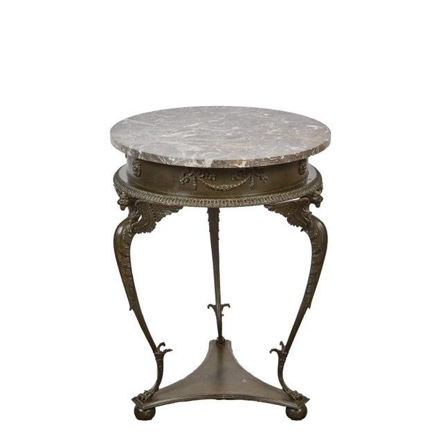 Mid 19th Century three-legged Italian Dark Gray Marble Top Gueridon Table - Image 1 of 7