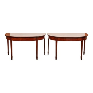 Pair of George III Mahogany Console Tables