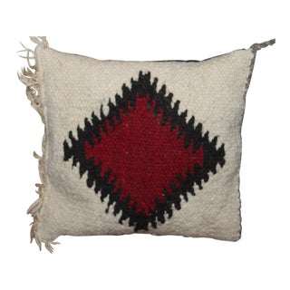 Amazing and Rare Small Geometric Navajo Weaving Pillow