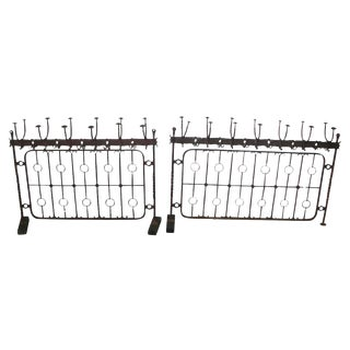 Unusual Brass Wrought Iron Hat Racks - A Pair