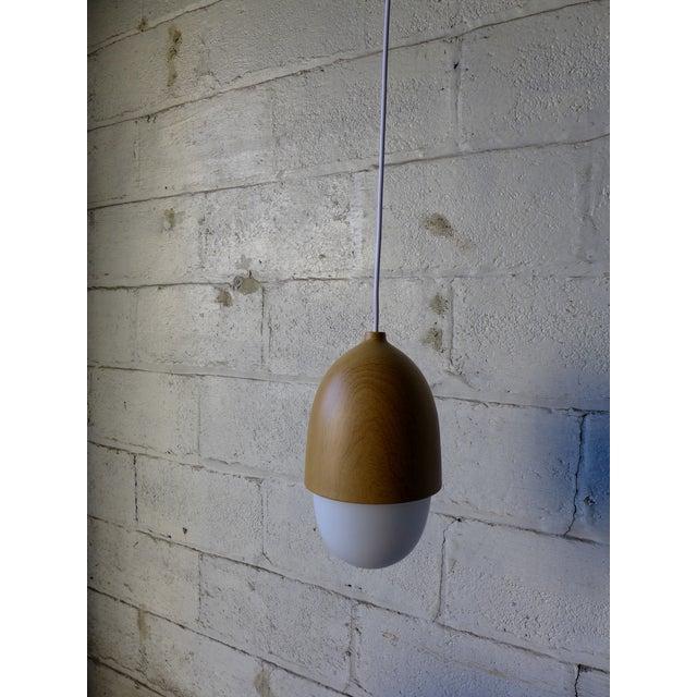 Mid Century Modern Styled Acorn Pendant Lamp - Image 4 of 6