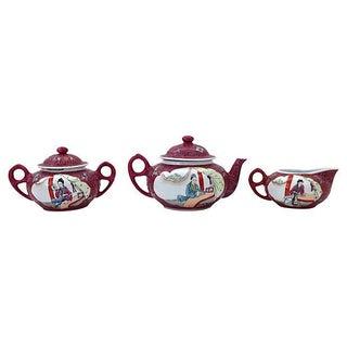 MunShou Rose Porcelain Tea Service - 5 Pieces