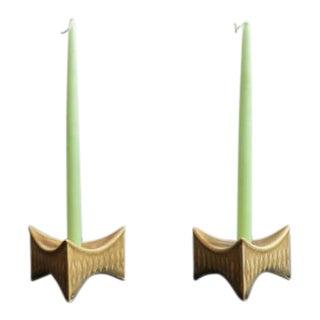 Little Leaf Point Candleholder - a Pair