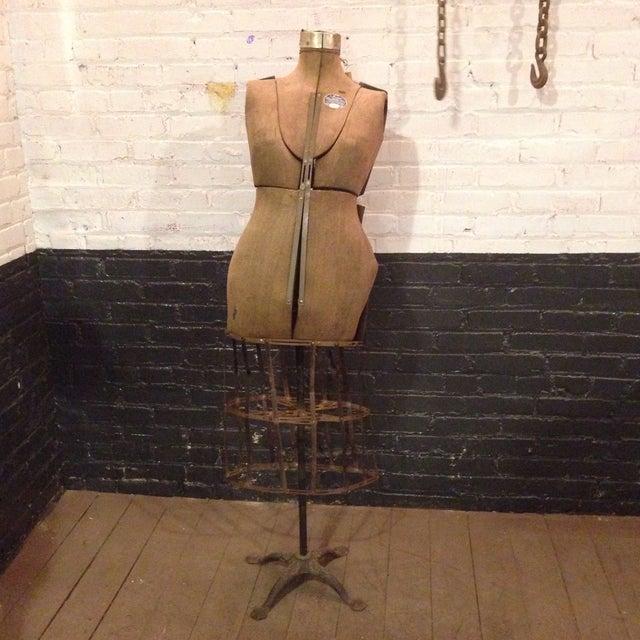 Antique Adjustable Dress Form Mannequin - Image 2 of 11